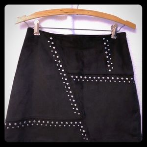 Express  studded faux suede Miniskirt size 0